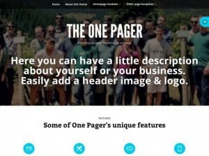 WooThemes The One Pager WooCommerce Themes