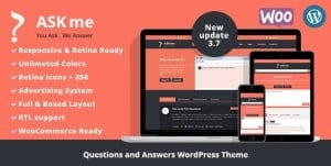 Ask Me – Responsive Questions Answers WordPress
