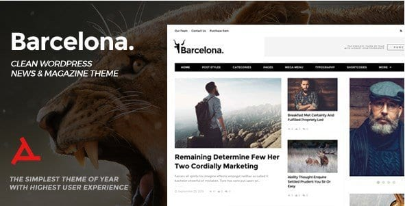 Barcelona – Clean News Magazine WordPress Theme