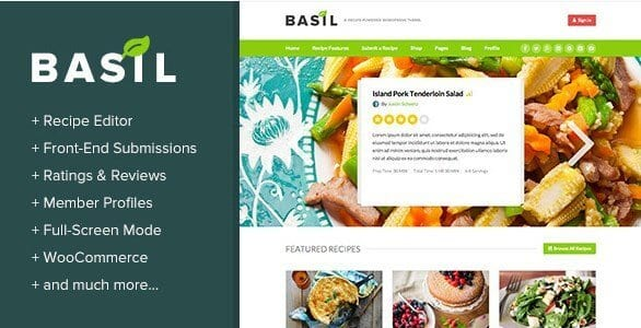 Basil Recipes – A Recipe Powered WordPress Theme