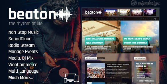 Beaton – Music Radio Events WordPress Theme