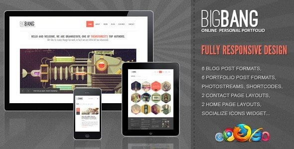 Bigbang – Responsive WordPress Template