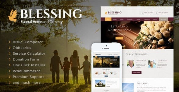 Blessing – Funeral Home WordPress Theme