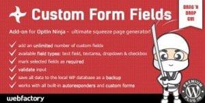 Custom Form Fields Add on for OptIn Ninja