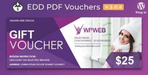 Easy Digital Downloads – PDF Vouchers