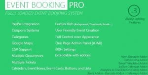 Event Booking Pro – WP Plugin Paypal or Offline
