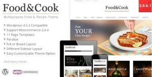 Food Cook – Multipurpose Food Recipe WP Theme