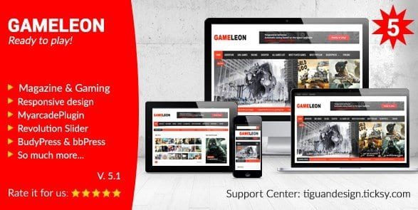 Gameleon – WordPress Magazine Arcade Theme