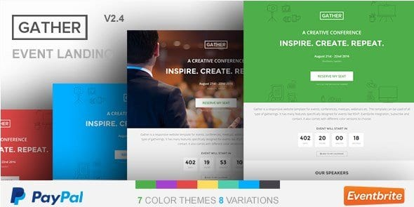 Gather – Event Conference WP Landing Page Theme