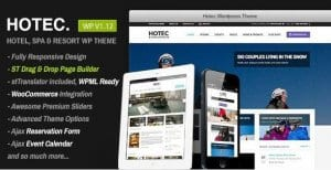 Hotec – Responsive Hotel Spa Resort WP Theme