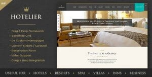 Hotelier – Hotel Travel Booking WordPress Themes