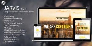 Jarvis – Onepage Parallax WordPress Theme