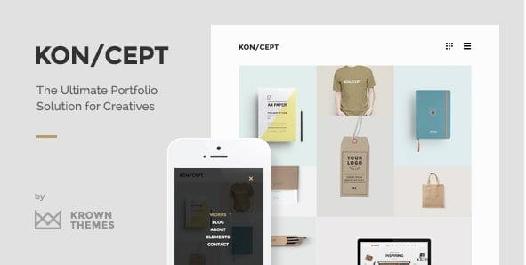 KONCEPT – A Portfolio Theme for Creative People