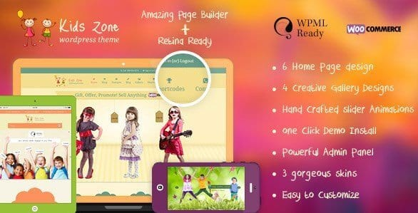 Kids Zone – Children Kids WordPress Theme