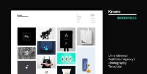 Krome – Minimal Creative Portfolio WordPress Theme