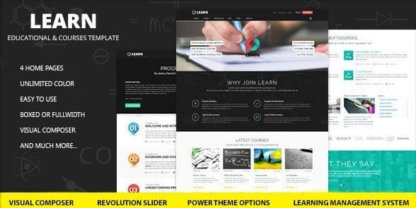 Learn – Education eLearning WordPress Theme