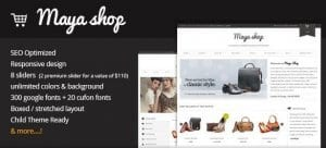 MayaShop – A Flexible Responsive e Commerce Theme