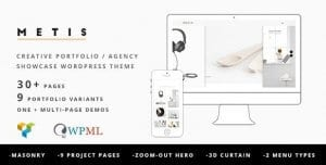 Metis – Portfolio Agency WordPress Theme