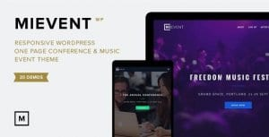 MiEvent – Responsive Event Music WordPress Theme