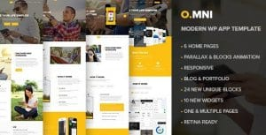 Omni – Stylish Powerful One Page WP Theme