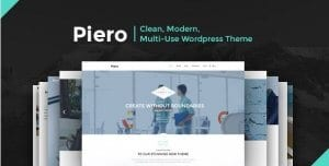 PIERO – Clean Modern Multi Use WordPress Theme