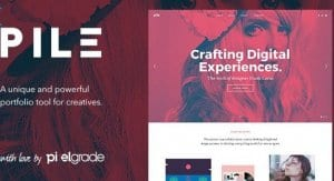 PILE – An Uncoventional WordPress Portfolio Theme
