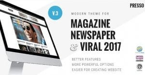 PRESSO – Modern Magazine Newspaper Viral Theme