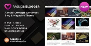 Passion Blogger – A Responsive WordPress Theme