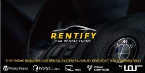 Rentify – Car Rental WordPress Theme