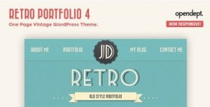 Retro Portfolio – One Page Vintage WordPress Theme