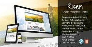 Risen – Church WordPress Theme Responsive
