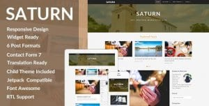 SATURN – A Personal Travel WordPress Blog Theme