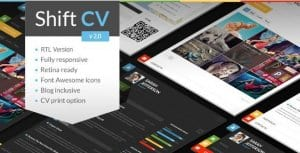 ShiftCV – Blog Resume Portfolio WordPress