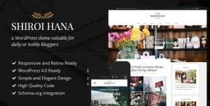 Shiroi Hana – An Elegant Blogging Theme