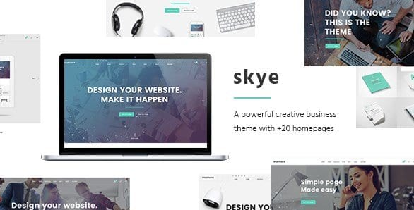 Skye – A Contemporary Theme for Creative Business