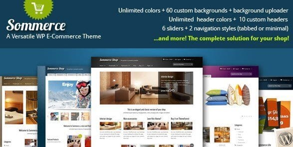 Sommerce Shop – A Versatile E commerce Theme