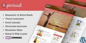 Spiritual – Church WordPress Theme Responsive
