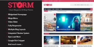 Storm – Clean Magazine Blog Theme