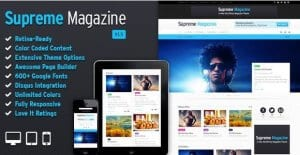 Supreme – Retina Responsive Magazine Blog WP Theme
