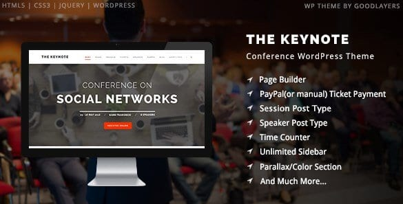 The Keynote – Conference Event Meeting WordPress Theme