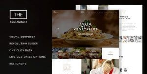 The Restaurant – Restaurant and Catering One Page Theme