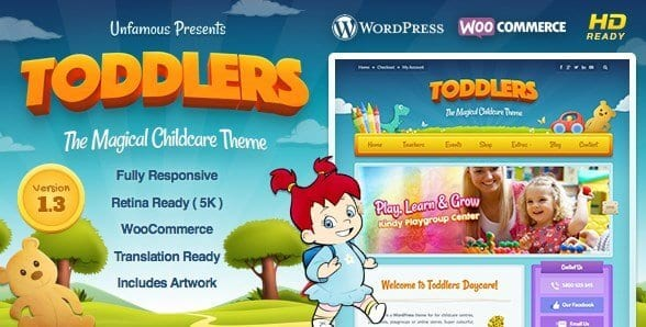 Toddlers – Kids Child Care Playgroup WordPress Theme