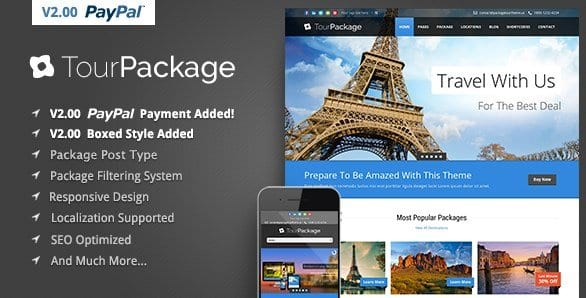 Tour Package – WordPress Travel Tour Theme