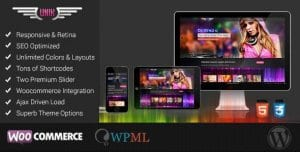 UNIK – Universal Music Responsive WordPress Theme