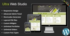 Ultra Web Studio Blog Portfolio WordPress Theme