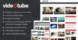 VideoTube – A Responsive Video WordPress Theme