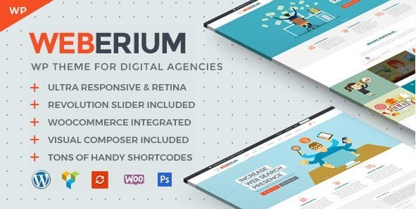 Weberium – Responsive WordPress Theme For Digital Agencies