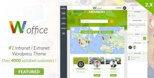 Woffice – Intranet Extranet WordPress Theme