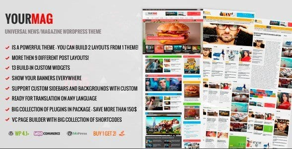 YourMag – Universal WordPress News Magazine Theme