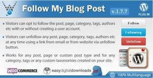 Follow My Blog Post – WordPress Plugin